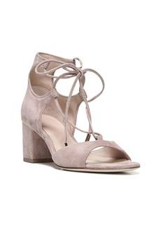 Diane Von Furstenberg Priore Lace-Up Suede Block Heel Sandals
