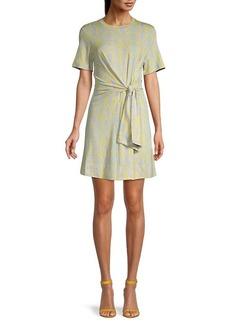 Diane Von Furstenberg Python-Print Mini T-Shirt Dress