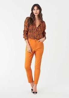 Diane Von Furstenberg Reggie Cotton Straight-Leg Pants