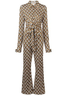 Diane Von Furstenberg retro print jumpsuit