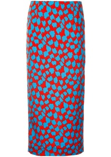 Diane Von Furstenberg retro print pencil skirt