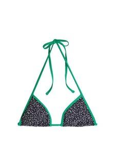 Diane Von Furstenberg Reversible Printed Bikini Top