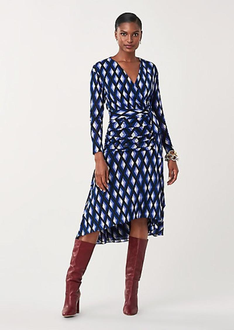 Rilynn Mesh Faux-Wrap Dress