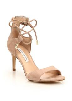 Diane Von Furstenberg Rimini Suede Lace-Up Sandals