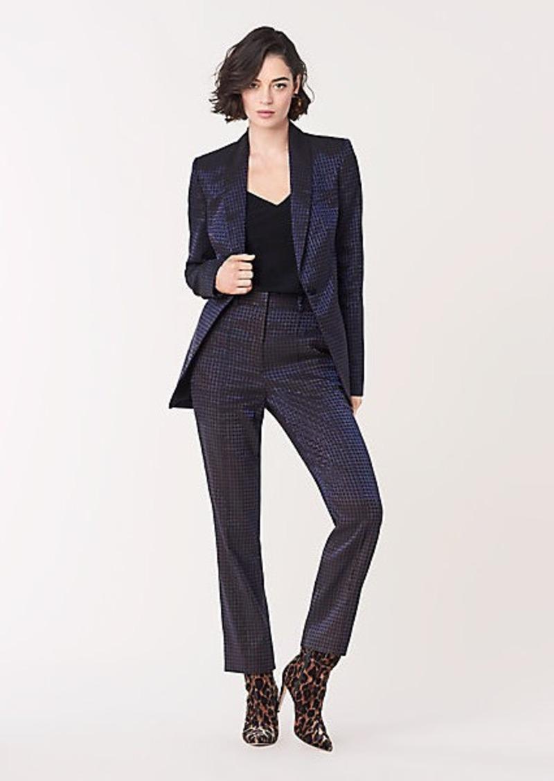Diane Von Furstenberg Riya Metallic Jacquard Straight Pants