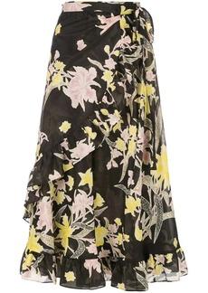 Diane Von Furstenberg Rosalia wrap skirt
