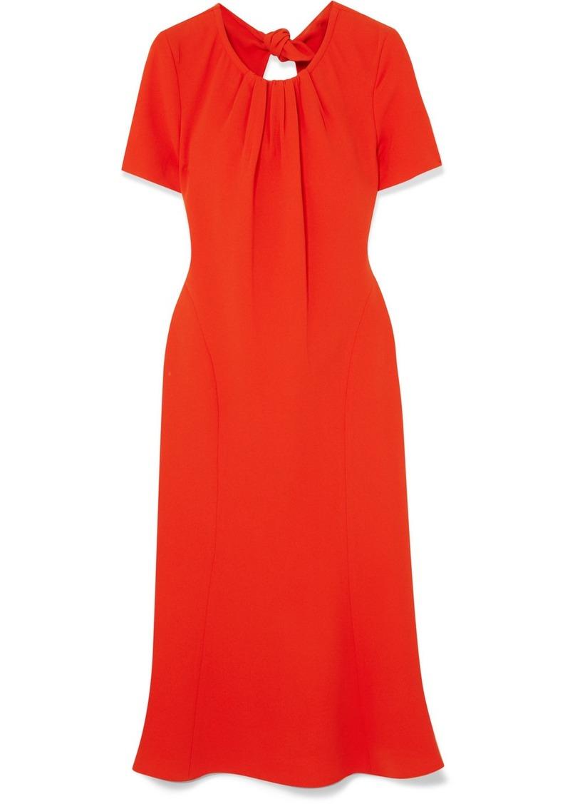 Diane Von Furstenberg Rose Open-back Crepe Dress