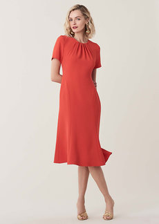 Diane Von Furstenberg Rose Open-Back Crepe Midi Dress