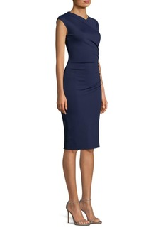 Diane Von Furstenberg Ruched Cap Sleeve Sheath