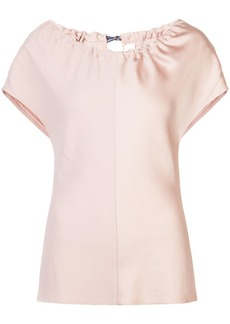 Diane Von Furstenberg ruched neck top
