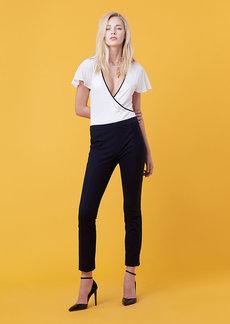 Diane Von Furstenberg Ruffle Sleeve Bodysuit