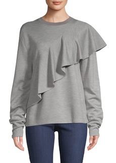 Diane Von Furstenberg Ruffled Front Pullover