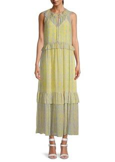 Diane Von Furstenberg Ruffled Maxi Dress