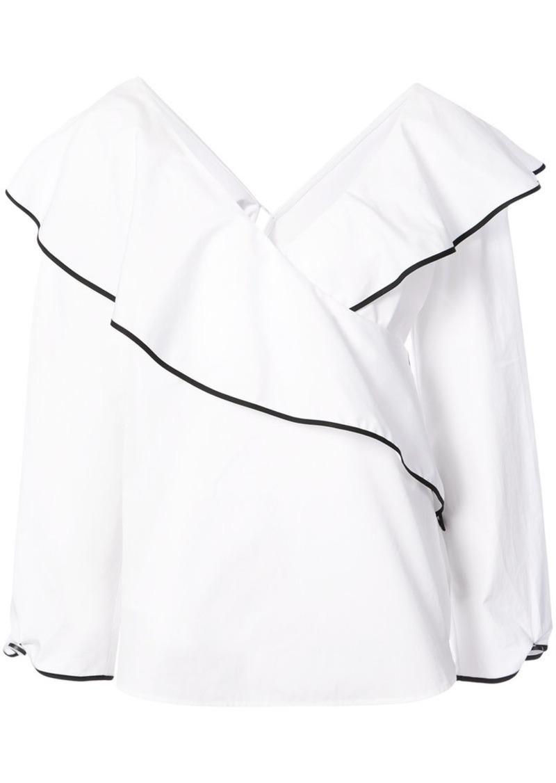 Diane Von Furstenberg ruffled wrap top