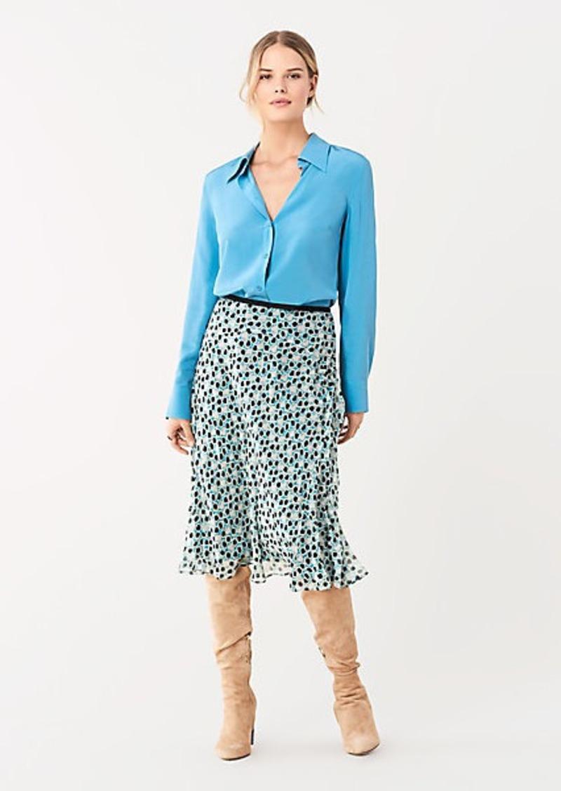 Diane Von Furstenberg Samson Silk Crepe De Chine Shirt