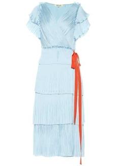 Diane Von Furstenberg Sasha pleated wrap dress
