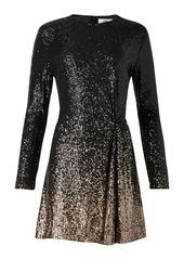 Diane Von Furstenberg Savanna Sequined Long-Sleeve Short Dress
