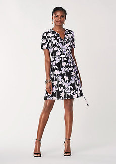 Diane Von Furstenberg Savilla Silk Crepe de Chine Mini Wrap Dress