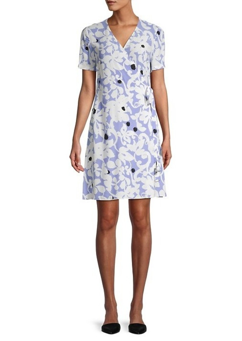 Diane Von Furstenberg Saville Printed Wrap Dress