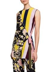 Diane Von Furstenberg Sedona Mixed-Print Sleeveless Top