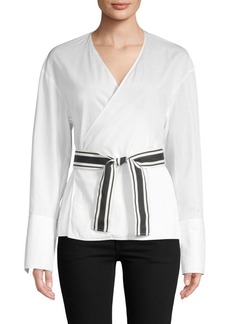 Diane Von Furstenberg Self-Tie Cross-Over Blouse