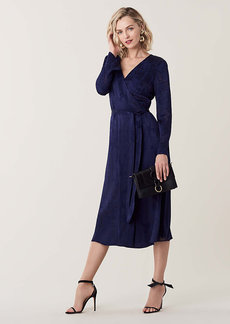 Diane Von Furstenberg Tilly Burnout Midi Wrap Dress