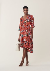 Diane Von Furstenberg Eloise Silk High-Low Midi Dress