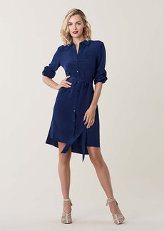 Diane Von Furstenberg Prita Silk Crepe de Chine Shirt Dress