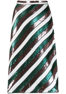 Diane Von Furstenberg sequin stripe skirt