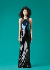 Diane Von Furstenberg Sequin Tailored Gown