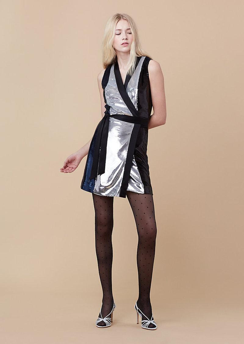 Diane Von Furstenberg Sequin Wrap Dress
