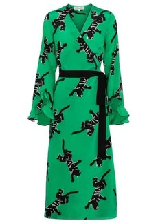 Diane Von Furstenberg Serena silk crêpe de chine wrap dress