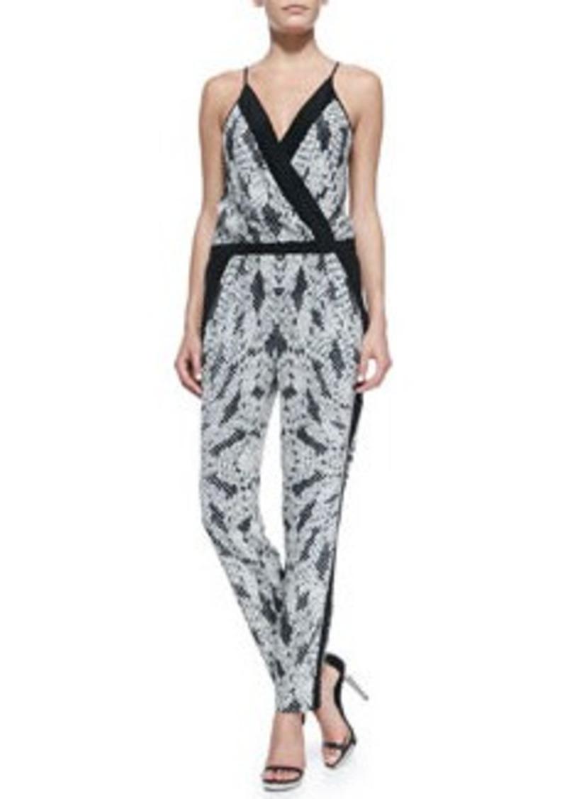 Diane Von Furstenberg Shany Panther Lace-Print Jumpsuit   Shany Panther Lace-Print Jumpsuit