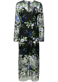 Diane Von Furstenberg sheer floral dress