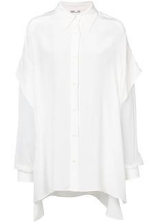Diane Von Furstenberg sheer sleeves shirt