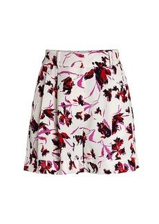 Diane Von Furstenberg Shiana Wild Flora Shorts