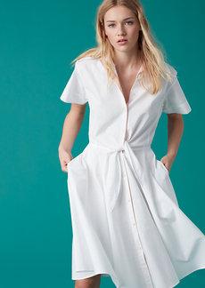 Short Sleeve Collared Shirt Dress
