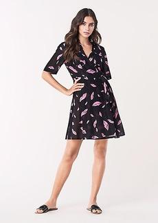Diane Von Furstenberg Short-Sleeve Collared Wrap Dress