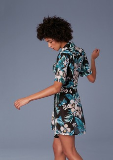 Diane Von Furstenberg Short-Sleeve Collared Wrap Dress