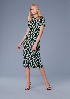 Diane Von Furstenberg Short-Sleeve Crew Neck Dress