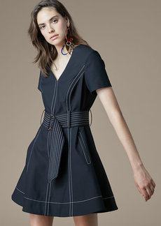 Short-Sleeve D-Ring Dress