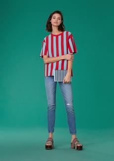 Diane Von Furstenberg Short-Sleeve Knit Tee
