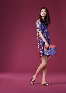 Short-Sleeve Mini Fluid Dress