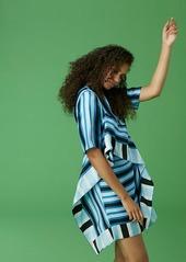 Diane Von Furstenberg Short-Sleeve Ruffle Front Mini Dress