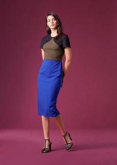 Diane Von Furstenberg Short-Sleeve Tailored Midi Dress