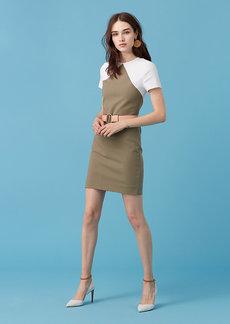 Short Sleeve Tailored Shift Dress