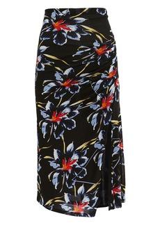 Diane Von Furstenberg Side Cinched Midi Skirt