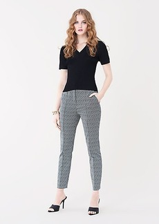 Diane Von Furstenberg Sienna Stretch-Jacquard Straight-Leg Pants