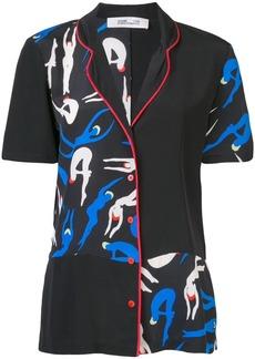 Diane Von Furstenberg silhouette print blouse