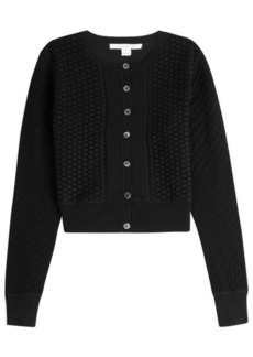 Diane Von Furstenberg Silk-Cotton Blend Cardigan